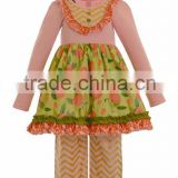 Flower decorative dress baby outfit boutique girl western celebrate birthday clothing party dress