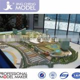 Architectural house 3d visualization miniature zone plan hotel building model