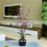High simulation purple orchids home, office, hotel decorating cheap artificial plastic flower