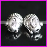 GZKJL-CT0267 double face Vintage Silver Tone Yoga Buddha Beads for DIY jewelry