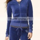 Ladies velour sportswear suit/ladies winter and summer velour tracksuit