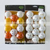 high quality golf plastic hollow balls