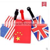 New Style Promotional Luggage Tag, Customize National Flag Printing Luggage Tag, Customize Silicone luggage tag