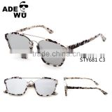 ADE WU Brand Italy Design Luxury European Fashion Abstract Art Couple Sunglasses Men or Women Flat Reflect Top Mirrored Glasses