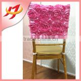 Wholesale Elegant Restaurant Party Polyester Dining Rosette Chair Covers Cheap Universal Wedding Chair Covers