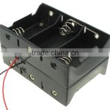6 d cell battery holder with leads