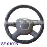 popular PVC cheap hand binding car steering wheel covers for the car parts sales from factory Zhejiang China