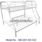 Metal Double Decker In White Colour With Simple Design, cheap bedroom furniture, metal bed, double decker bed
