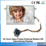 10 inch portable tv open frame advertising products digital price display for supermarket
