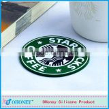 Customize round shape embossed logo starbucks PVC cup coaster,PVC baking cup mat