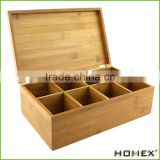 High Quality Beautiful And Custom Luxury Black Brown White Glossy Lacquer Finish Bamboo Tea Box/Homex_Factory