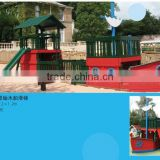 wooden train set CE, GS Certificated Outdoor Playground kids play SET Muiti play set
