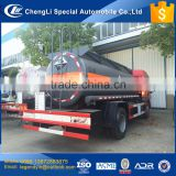 Safety and reliable high quality 7 cbm 7000 liters chemical liquid tank truck 6 wheel corrosive liquid carrier for sale
