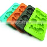 Food grade cool fish bone shape Silicone Ice tray