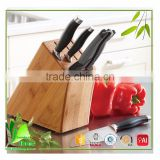 Perfectly shaped bamboo block knife set
