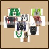 Mix fashion alloy charm pendant polyester scarves custom long jewelry scarves shawls cheap pendant scarves