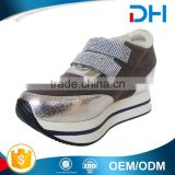 Customized best price thick PU insole women running shoes factory china