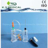 Disposable plastic needle holder blood collection needle holder