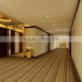 Needle punched plain color Nonwoven exhibition shaggy carpet,rugs/colorful striped carpet