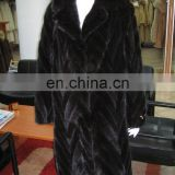 Black Mink Fur Coat 3/4 Length