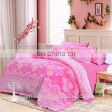 flannel bedding set 4pcs engraved fleece
