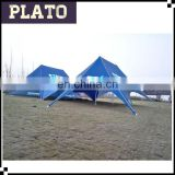 Outdoor sport canopy tent connected tents used for 5k running game/event with factory price