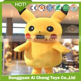 wholesale lovely plush pikachu costume for adult stocks