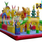 lovely inflatable fun city combo games for kids