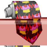 Devil pink devil cupcake tie wholesale necktie interlining label set fashion accessories