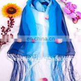 2015 FashionFringes Gradient Printed Long Silk Scarf