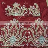2016 high quality heavy beaded george fabric embroidery indian george wrappers for dashik ankara clothing