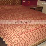 Top grade royal 100% cotton handmade printed design bedsheets king size bedding set custom any size want
