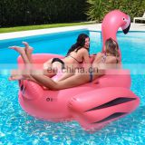 2016 New 75inch Stock Giant Inflatable flamingo pool float with drink holder