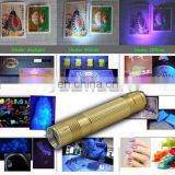5W 365nm UV LED Ultraviolet Blacklight Flashlight