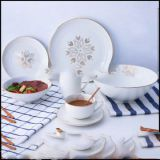 Porcelain dinner set with gold decal