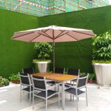 Luxury Modern Outdoor Furniture Aluminum Teak Outdoor Furniture