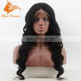 Factory Wholesale Glueless Lace Front Wig Bleached Knots 8A Wave Brazilian Virgin Human Hair Full Lace Wig