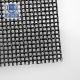 Black powder coat security door use woven stainless steel mesh