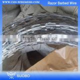 Hot Sale Razor Blade Concertina Wire, Single Coil Concertina Razor Wire, Straight Line Razor Barb Wire