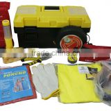 14pcs hot sale car emergency kits with carry box for promotion