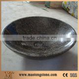 China Black Granite Bathroom Wash Sinks, Stone Rectangle Wash Basins, Vessel Sink, Shanxi Black Granite Wash Basins