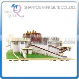 Mini Qute 3D Wooden Puzzle Potala Palace world architecture famous building Adult kids model educational toy gift NO.MJ405