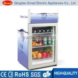 50 Liters Customized Decoration Display Cooler Fridge, Upright Display Fridge With Top Display light