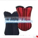 2016 Wholesale cheapest large stock overbust underbust basque corset S-2XL