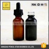 30ml 50ml black round e liquid glass bottle with dropper , empty bottles for essential oil wholesale