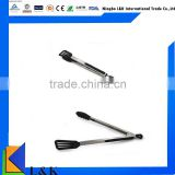 Hot sale stainless steel tongs nylon clip nylon locking tongs, BBQ tongs