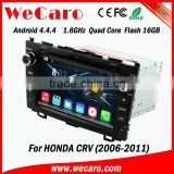 "Wecaro android 4.4.4 car dvd player touch screen 8"" for honda crv car dvd gps navigation system android USB SD TV tuner"