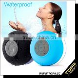 2015 Portable Waterproof Bluetooth Speaker Shower speaker Car Handsfree Receive Call & Music Suction Phone