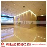 Beige stone tile flooring travertine