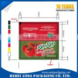 Tomato sauce packaging film/ketchup packaging film roll /tomato paste wrapping film roll
